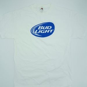 Budlight White Casual T Shirt NWOT